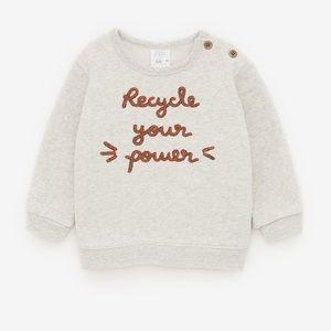 Zara text sweater